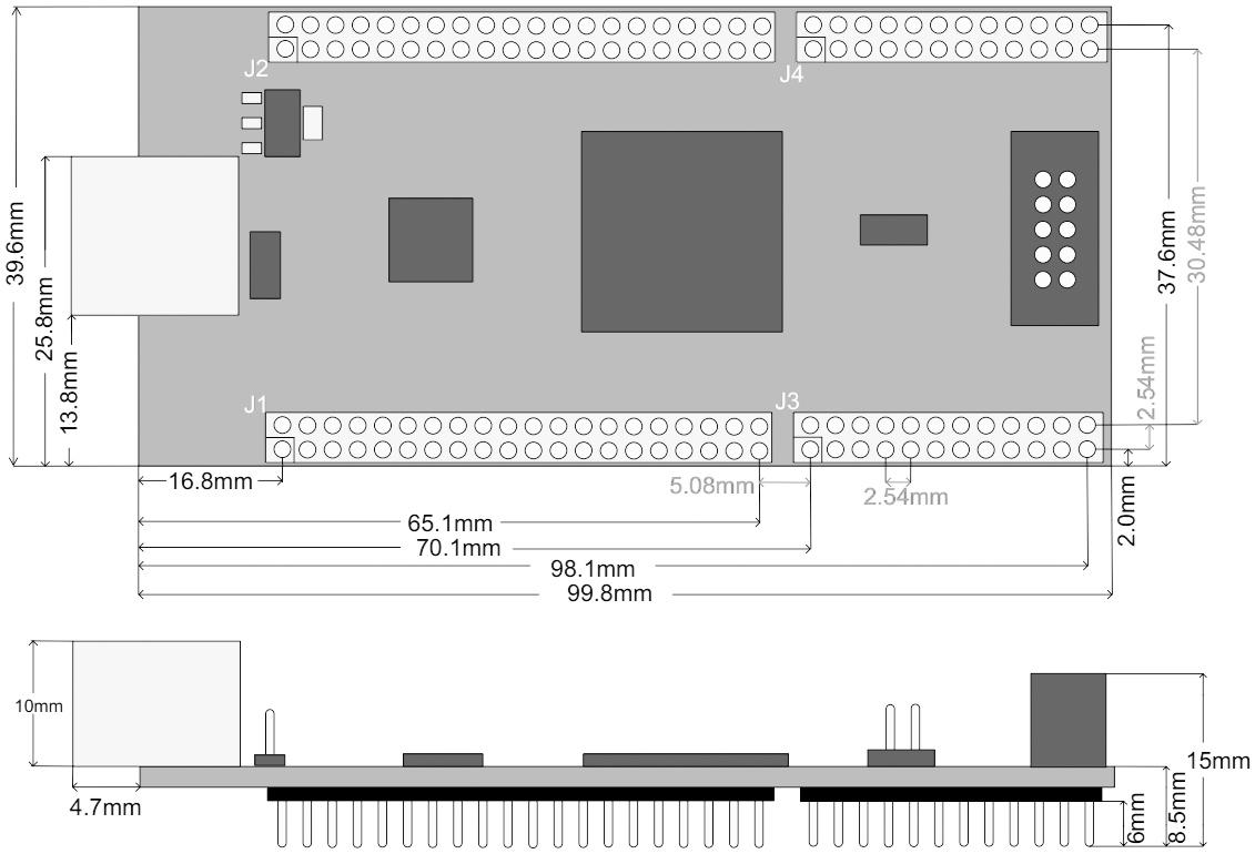 FTDI Morph IC II dimensions